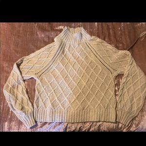 American Eagle Mock Neck Sweater